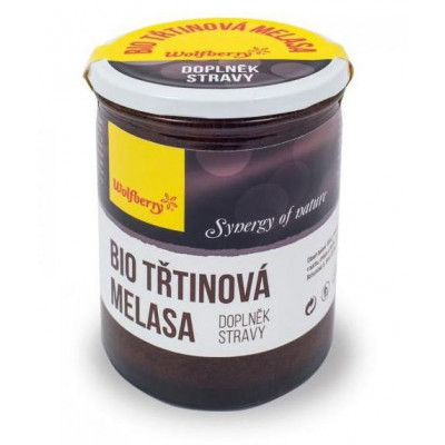 Melasa třtinová BIO 450 g Wolfberry