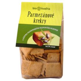 Parmezánové krekry s olivovým olejem BIO 130 g bio nebio