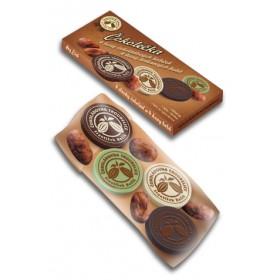 Čokoládová kolečka 4 ks + kakaové boby 4 ks Čokoládovna Troubelice