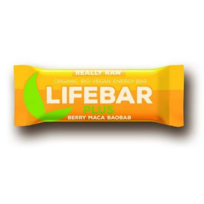 Lifebar plus třešňová s macou a baobabem BIO RAW 47 g Lifefood