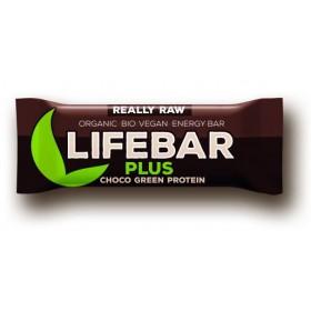Lifebar plus čokoláda a konopný protein BIO RAW 47 g Lifefood