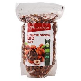 Lískové ořechy neloupané BIO 500 g Zdravý den