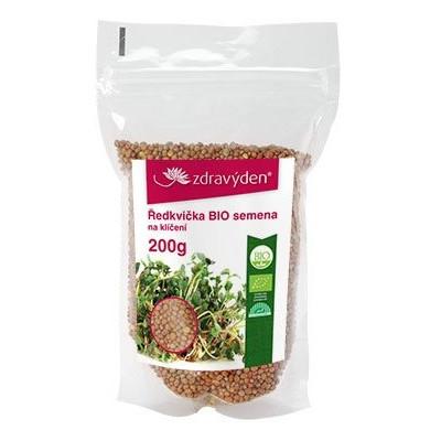 Ředkvička - semena ke klíčení BIO 200 g Zdravý den
