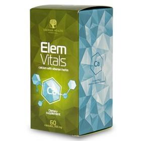 Vápník ElemVitals se sibiřskými bylinami 60 kapslí