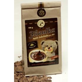 Teplá čokoláda mléčná Fanulka 100 g Čokoládovna Troubelice