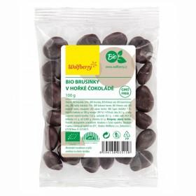 Brusinky v hořké čokoládě BIO 100 g Wolfberry