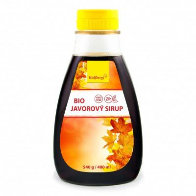 Javorový sirup BIO grade C 400 ml Wolfberry