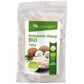 Kokosové chipsy BIO, RAW 100 g Zdravý den