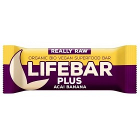 Lifebar Plus tyčinka acai s banánem BIO 47 g Lifefood