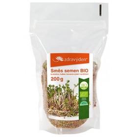 Směs semen na klíčení BIO - brokolice, ředkev červená, jetel 200 g