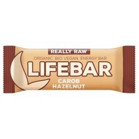 Lifebar tyčinka karobová s lískovými oříšky BIO 47g Lifefood