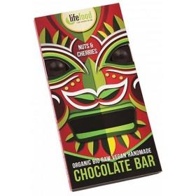 Chocolate Bio s kousky ořechů a třešní 70g
