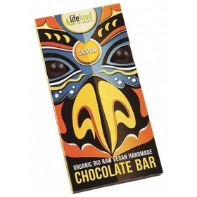 Chocolate Bio s kousky kešu ořechy 70g