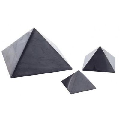 Šungitová pyramida leštěná 6x6 cm