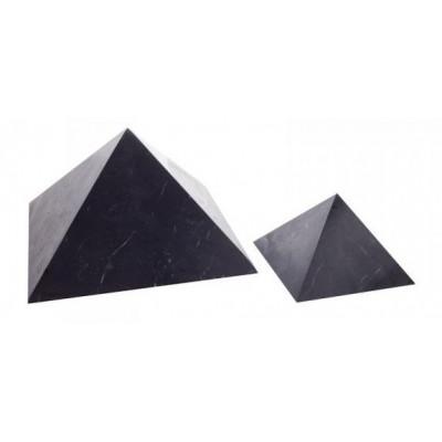 Šungitová pyramida neleštěná 10x10 cm