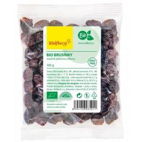 Brusinky BIO slazené jablečným juicem 100 g Wolfberry
