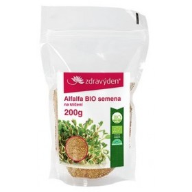 Alfalfa BIO - vysoká klíčivost 200 g Zdravý den