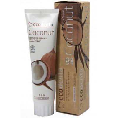 Bio zubní pasta proti zubnímu plaku s kokosovým olejem 100 ml Ecodenta