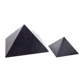 Šungit pyramida neleštěná 3x3cm