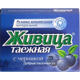 Sibiřská žvýkací pryskyřice s borůvkou 5 ks
