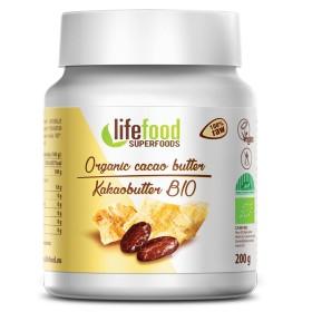 Kakaové máslo nepražené BIO 200 g Lifefood