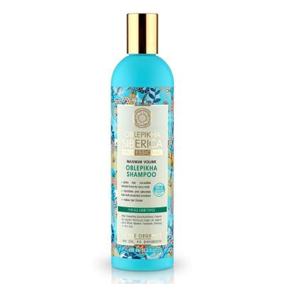 Rakytníkový šampón «Maximální objem» Oblebikha Siberica 400 ml Natura Siberica
