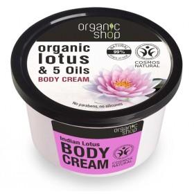 "Tělový krém ""Indický lotos"" 250 ml Organic Shop"