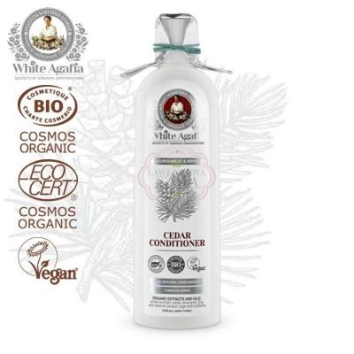 """Cedrový šampon """"Výživa a obnova"""" 280 ml White Agafia"""