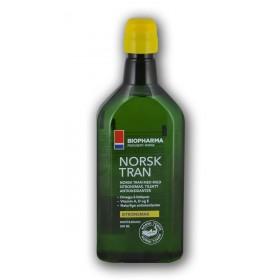 Norský rybí olej 500 ml s citrónovou příchutí Norsk Tran Bioprahrma
