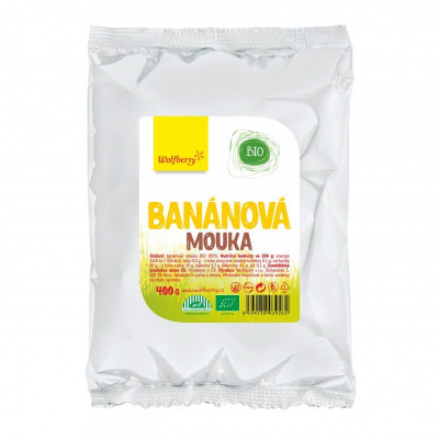 Banánová mouka BIO 400 g Wolfberry