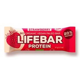 Lifebar protein jahodová BIO 47 g Lifefood