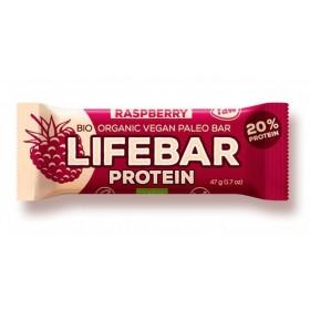 Lifebar protein malinová BIO 47 g Lifefood