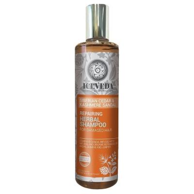 Obnovující bylinný šampon pro poškozené vlasy 280 ml Iceveda