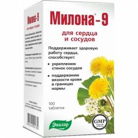 Milona 9 - podpora cév a srdce 100 tbl.
