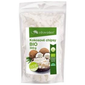 Kokosové chipsy BIO, RAW Zdravý den