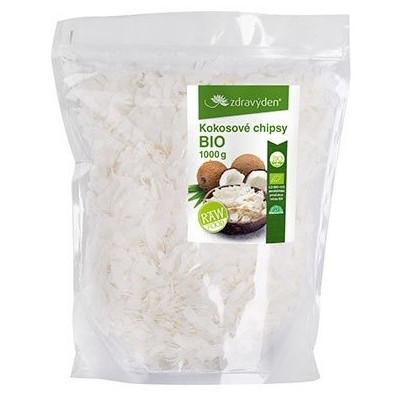 Kokosové chipsy BIO, RAW 1000 g Zdravý den