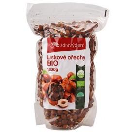 Lískové ořechy neloupané BIO 1000 g Zdravý den