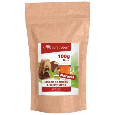 Sladidlo stévie prášek 100g Zdravý den