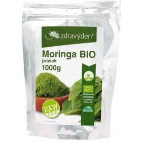 Moringa BIO RAW prášek 1000 g Zdravý den