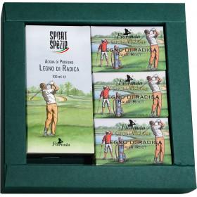 SPORT&SPEZIE: Golf Dárkový set pro muže Vřesovec (100ml, 3x50g) Florinda