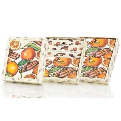 Dárkový set mýdel DUO skořice a citrus 2x 200 g Florinda