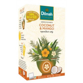 Green Rooibos Coconut & Mango 20x2 g Dilmah