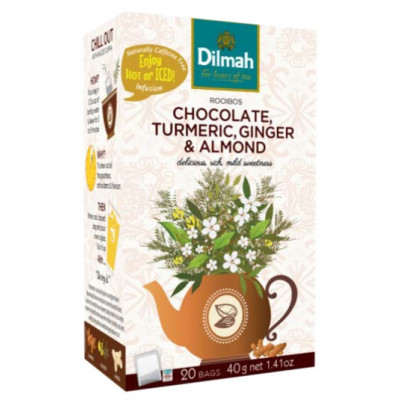Red Rooibos Chocolate, Turmeric, Ginger & Almond 20 x 2  g Dilmah