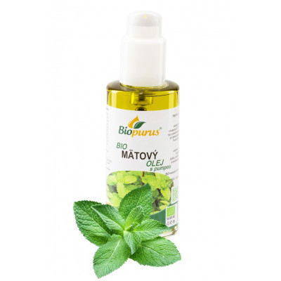 Mátový olej - macerát - 100 ml s dávkovačem Biopurus