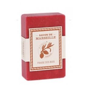 Mýdlo s bio olejem argánie - Fraise des bois (jahoda) 100g