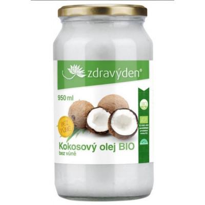 Kokosový olej bez vůně BIO 950 ml Zdravý den