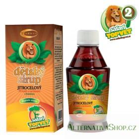 Topvet Safari Jitrocelový dětský sirup s fruktozou 300 g
