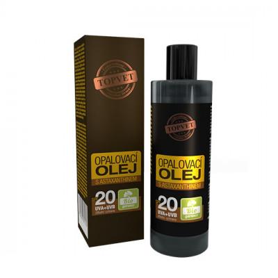 Opalovací olej s astaxanthinem SPF20 Topvet