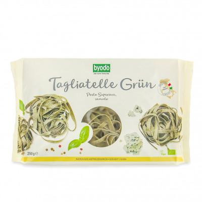 Těstoviny - Tagliatelle zelené špenátové BIO 250 g Byodo