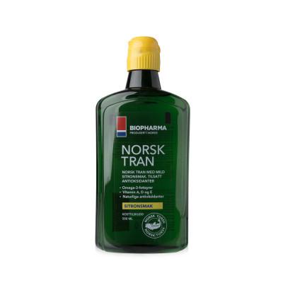 Norský rybí olej s přírodní citrónovou příchutí 375 ml - Norsk Tran - Biopharma